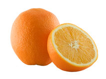 Orange and its half Royalty Free Stock Images