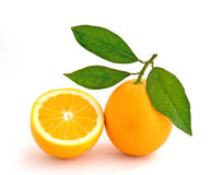 Orange and its section Royalty Free Stock Photo