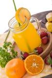 Orange, Jack Fruit and Strawberry mix smoothie Royalty Free Stock Photos