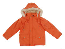 Orange jacket Royalty Free Stock Images