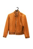 Orange jacket isolated Royalty Free Stock Photos