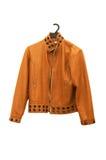 Orange jacket isolated. On the white backrgound Royalty Free Stock Photos