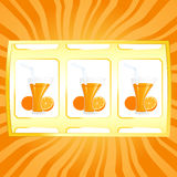 Orange jackpot Royalty Free Stock Photo