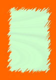 Orange jagged border Royalty Free Stock Photography
