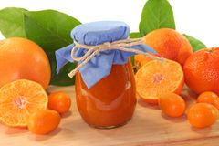 Orange jam Stock Photos