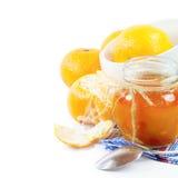 Orange jam. Still life on white background Stock Images
