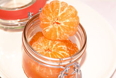 Orange jam. With a clemtine in a glass Royalty Free Stock Image