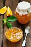 Orange jam in bowl Stock Photography