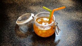 Orange Jam In A Glass Jar Royalty Free Stock Image