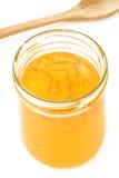 Orange jam in glass jar Stock Photo