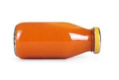 Orange jam jar glass isolated on white background. Orange jam jar glass isolated on white Stock Photos