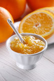 Orange jam in the jar Royalty Free Stock Photos