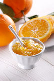 Orange jam in the jar Royalty Free Stock Photo