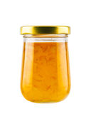 Orange jam jar Stock Images