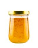 Orange jam jar. Isolated on white background Stock Images