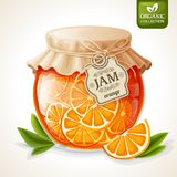 Orange jam jar Stock Photography