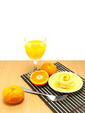 Orange jam roll Stock Photography