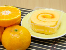 Orange jam roll Royalty Free Stock Photos