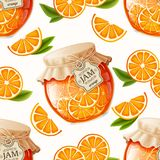 Orange jam seamless pattern Stock Images