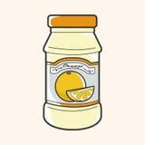 Orange jam theme elements vector,eps Stock Image
