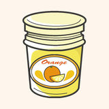Orange jam theme elements vector,eps Royalty Free Stock Photography