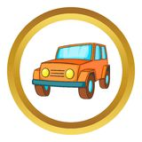 Orange jeep vector icon Royalty Free Stock Images