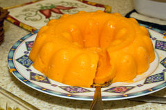 Orange Jello Dessert Royalty Free Stock Images