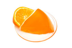 Orange jelly Stock Photography