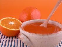 Orange jelly Stock Image