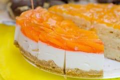 Orange jelly cake Stock Images