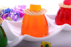 Orange Jelly With Candy Royalty Free Stock Photography