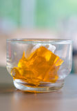 Orange jelly Stock Image