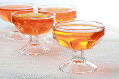 Orange jelly dessert Royalty Free Stock Photography