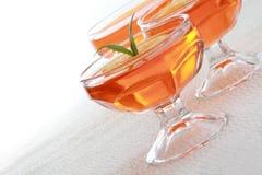 Orange jelly dessert Stock Image