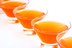 Orange jelly diagonal horizontal Stock Images