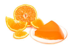 Orange jelly Royalty Free Stock Image