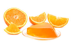 Orange jelly Stock Photos