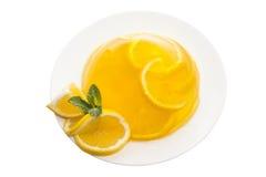 Orange jelly Stock Photos