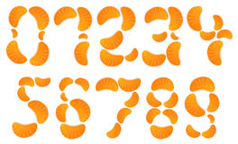 Orange Jelly Numbers. Jelly Orange Slices Numbers Set Royalty Free Stock Photo
