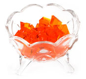 Orange jelly Stock Images