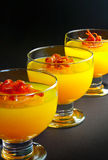 Orange jelly set Royalty Free Stock Photos