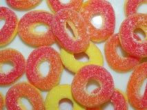 Orange jelly sweets Royalty Free Stock Image