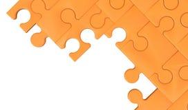 Orange jigsaw puzzle isolated Background Stock Photography