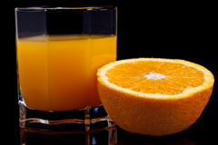 Orange and juice Royalty Free Stock Image