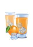 Orange Juice. Illustrated glass of orange juice on white background Stock Photography