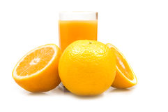 Orange juice. Isolated on white Stock Photography