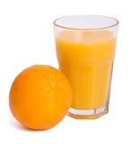 Orange juice. A glass of orange juice isolated on a white background Stock Photography