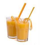Orange juice. A glass of orange juice isolated on a white background Stock Image