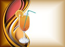 Orange juice. Abstract curve background with orange juice Stock Photos
