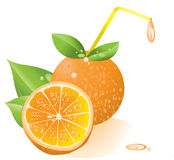 Orange Juice. Fresh Orange Juice illustration background Royalty Free Stock Photo